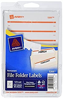 Avery Print Or Write File Folder Labels For Laser And Inkjet Printers 1//3 Cut,