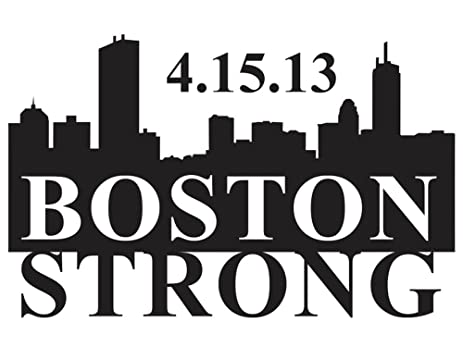 Amazoncom WHITE BOSTON STRONG LOGO VINYL DECAL STICKER Automotive - Custom vinyl decals boston
