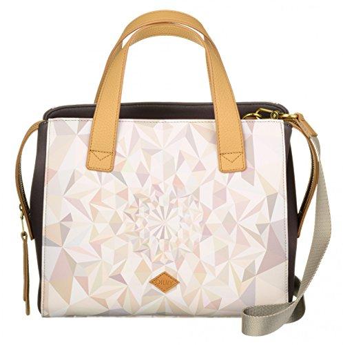Oilily Handbag OES7189-029 Oyster White Damen Handtasche Schultertasche Umhängetasche (28 x 13 x 23 cm)
