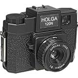 Holga 120N schwarz-silber
