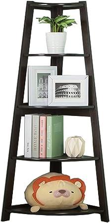 Muebles Estante para estantería Marco de esquina sala de estar balcón tabique divisor de exhibición escalera de piso para habitación de niños estantería de almacenamiento de estante carga 50 kg regalo: Amazon.es:
