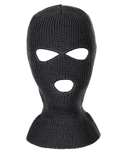 - RufnTop Ski Mask for Cycling & Sports Motorcycle Neck Warmer Beanie Winter Balaclava Cold Weather Face Mask(3 Holes Black One Size)