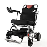 Bangeran Electric Wheelchair Folding Lightweight 40 lbs with Batteries Supports 270 lbs Aluminum Alloy Frame Aircraft Foldable Power Chair, Folded Volume Only 0.11 m³(3.88 CUFT)