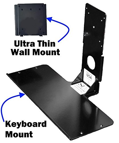 - SDS Premium iMount 2.0 Aluminum Mini Keyboard Mounting Shelf, Black, Light Weight, Mounts Using VESA Pattern On Monitors, Ultra thin Wall Mount Provided Manufactured in Michigan