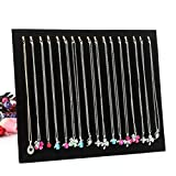Necklace Holder, Botitu® 12 inch Tall Jewelry Tree with 17 Hooks Bracelets Earring Organizer for Teen Girls and Women Jewelry Display(black, velvet)