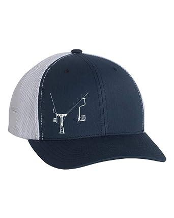 Ski Lift Trucker Hat - Single Chair Lift -Ski Lift Baseball Hat ... 33a0211d5b5