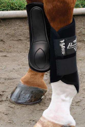 Professionals Choice Equine Ventech Splint Boot, Pair (Medium, Black)