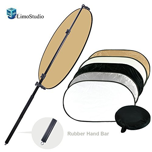 LimoStudio Photo Super Clamp for Boom and Reflector Arm Premium Quality Double-Reflector Holding Slope-Bar