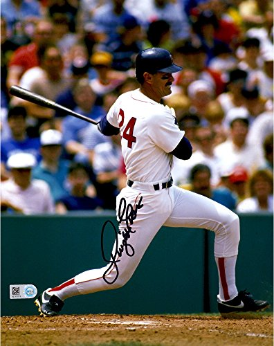 "Dwight Evans Boston Red Sox Autographed 8"" x 10"" Vertical Hitting Photograph - Autographed MLB Photos by Sports..."