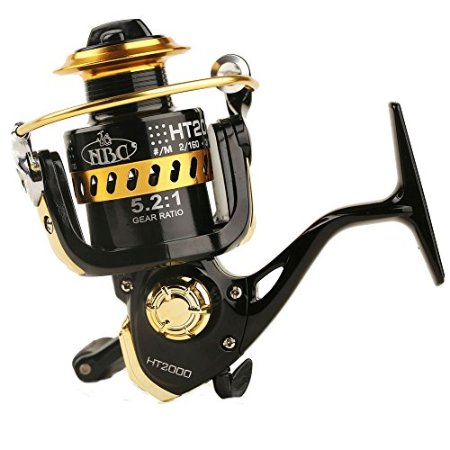 Entsport Saltwater/Freshwater Spinning Reel Metal Spool Spinning Fishing Reel Right/Left Retrieve Spin Reel Inshore Fishing Reel with 5.2:1 Gear Ratio 9+1 Ball Bearings (2000 Series)