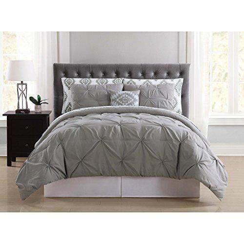 Truly Soft Everyday BIB1969GYFPB-32 Pleated Bed in a Bag, Full, Pueblo Grey by Truly Soft Everyday