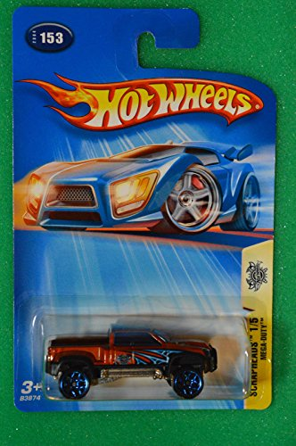 2004 HOT WHEELS SCRAPHEADS #153 MEGA-DUTY PICKUP TRUCK ORANGE B3874 ^G#fbhre-h4 (Duty Pickup Wheel)