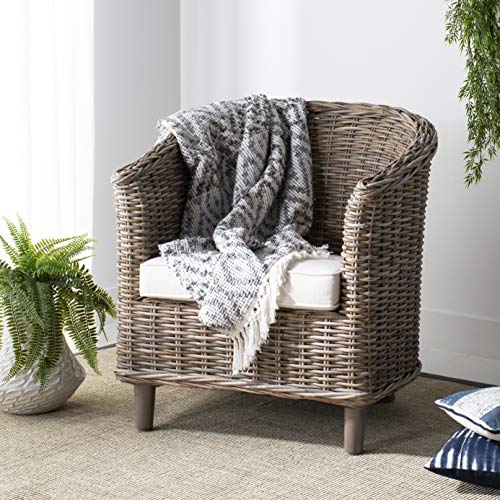 Safavieh Home Collection Omni Natural Unfinished Barrel Chair (Coastal Furnishings Living)