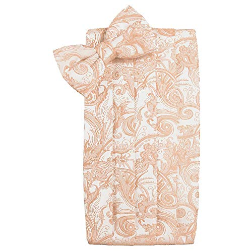 (Men's Tapestry Cummerbund & Bow Tie Set - Many Colors (Peach))