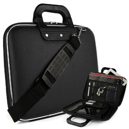 SumacLife Black Reinforced Travel Cady Shoulder Bag fits Insignia Flex 10.1