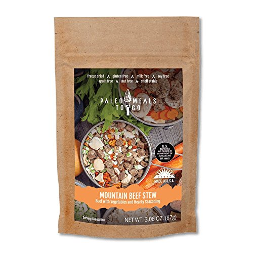 [Mountain Beef Stew Gluten Free, Freeze Dried, Paleo Meal for Backpacking and Camping] (Dehydrated Beef)