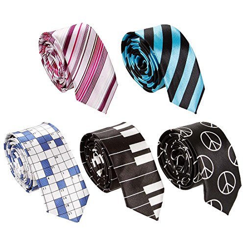 Bundle Monster 5pc Mix Pattern Mens Trendy Fashion Business 2