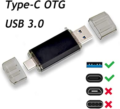 Memoria 16GB USB 3.0 2 en 1 Unidad Flash Drive OTG Pendrive Type C ...
