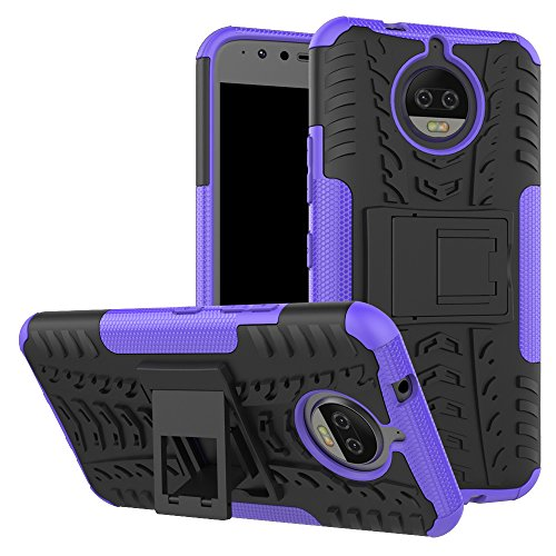 - Moto G5S Plus Case, UZER Shockproof Hybrid Slim Dual Layer Rugged Rubber Hybrid Hard/Soft Impact Armor Defender Full Body Protective Case Cover with Kickstand for Moto G5S Plus 2017 Model