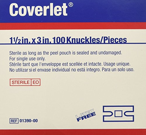 Coverlet Knuckles Fabric Bandages (Box of 100)