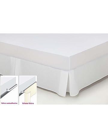 ESTELA - Cubrecanapé Hilo Tintado RÚSTICO Color Blanco óptico - Cama de 135 cm. -