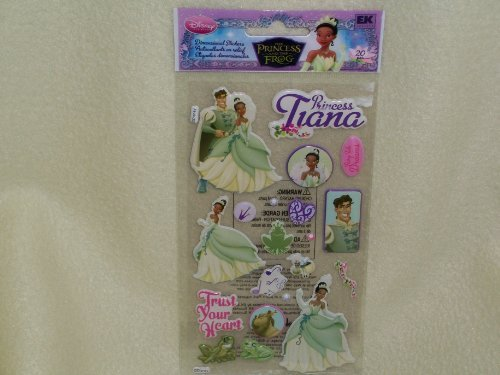 Disney the Princess and the Frog Dimensional Stickers ~ Trust Your Heart (20 Stickers, 1 Sheet)