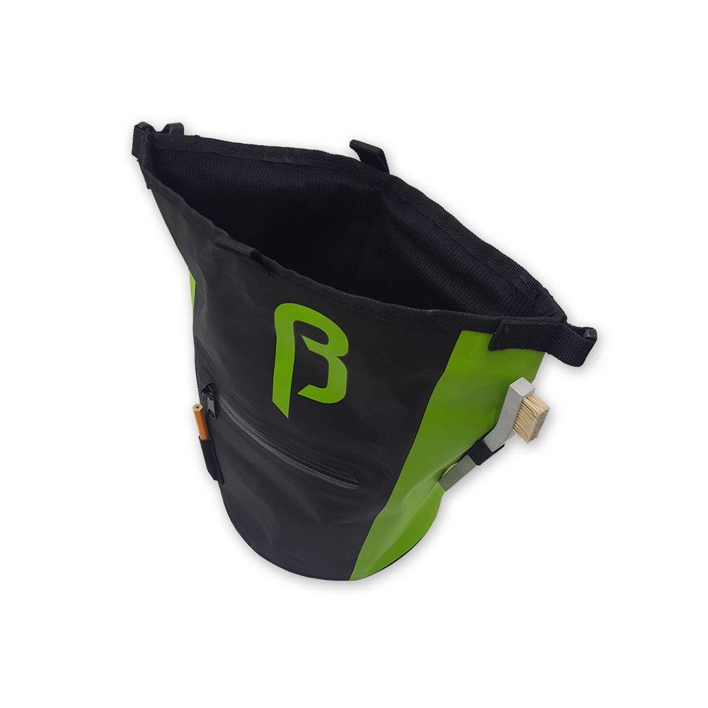 BetaLabs Buck-It Premium Chalk Bucket Stand Bag - For Climbing, Bouldering, Weightlifting & Gymnastics