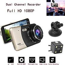 1080P HD Car DVR Dual Lens Camera Video Recorder Rearview Dash Cam G-sensor ,Tuscom