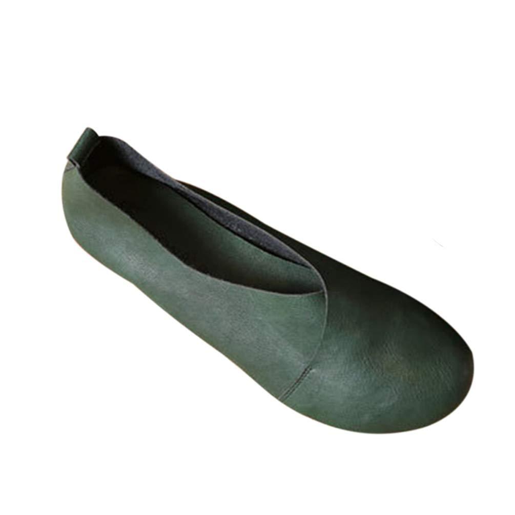 JRenok Femmes Cuir Chaussures Plates B071H8NSFW en 12699 Cuir Cuir Cousu Main Mocassins Vachette Souple Printemps Flats Casual Chaussures Vert Profond 88f15e3 - robotanarchy.space
