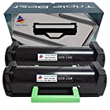 Triple Best Set of 2 Compatible C3NTP / M11XH (311-9805) High Yield Laser Toner Cartridge for Dell B2360d B2360dn B3460dn B3465dn B3465dnf Printers (8,500 Pages)