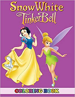 Amazon.com: Snow White and Tinkerbell Coloring Book: 2 in 1 Coloring ...
