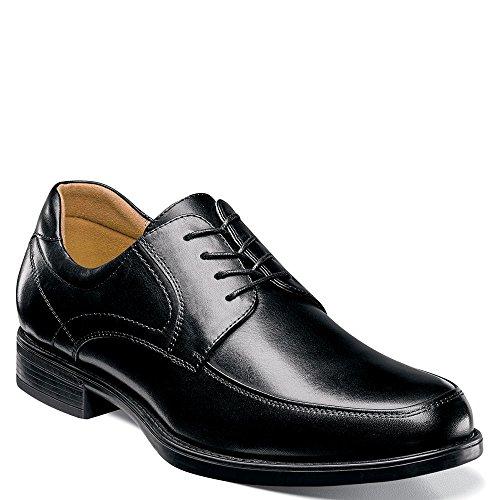 Florsheim Men's, Midtown Moc Toe Lace up Oxfords Black 9 D ()