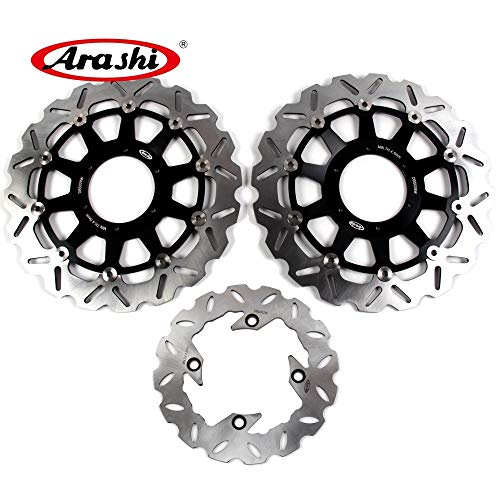 Rear Honda Cbr954rr (Arashi For Honda CBR929RR 2000 2001 Front Rear Brake Disc Rotor Disk Kit Motorcycle Accessories CBR 929 RR CBR929 929RR 00 01 Black CBR954RR 2002-2003)
