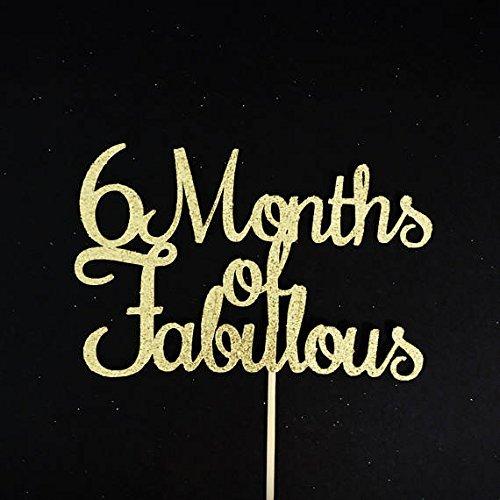 Amazon 6 Months Of Fabulous Cake Topper Half 1 2 Birthday Handmade