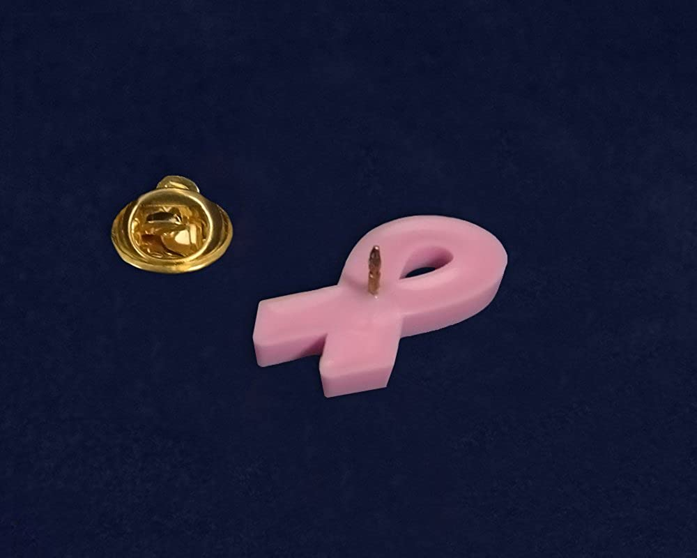 Fundraising For A Cause Pink Ribbon Awareness Silicone Pin