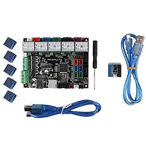 CUHAWUDBA MKS SGEN L Compatible con Placa Base Smoothieware 32-bit ...