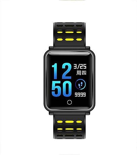 Pulsera Inteligente Reloj IP68 a Prueba de Agua y a Prueba de Polvo Pulsera Elegante a Todo Color de 1.3 Pulgadas Presión Arterial Frecuencia cardíaca, ...