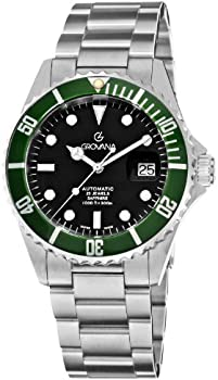 GROVANA Diver Black Dial Automatic Stainless Steel Men's Watch