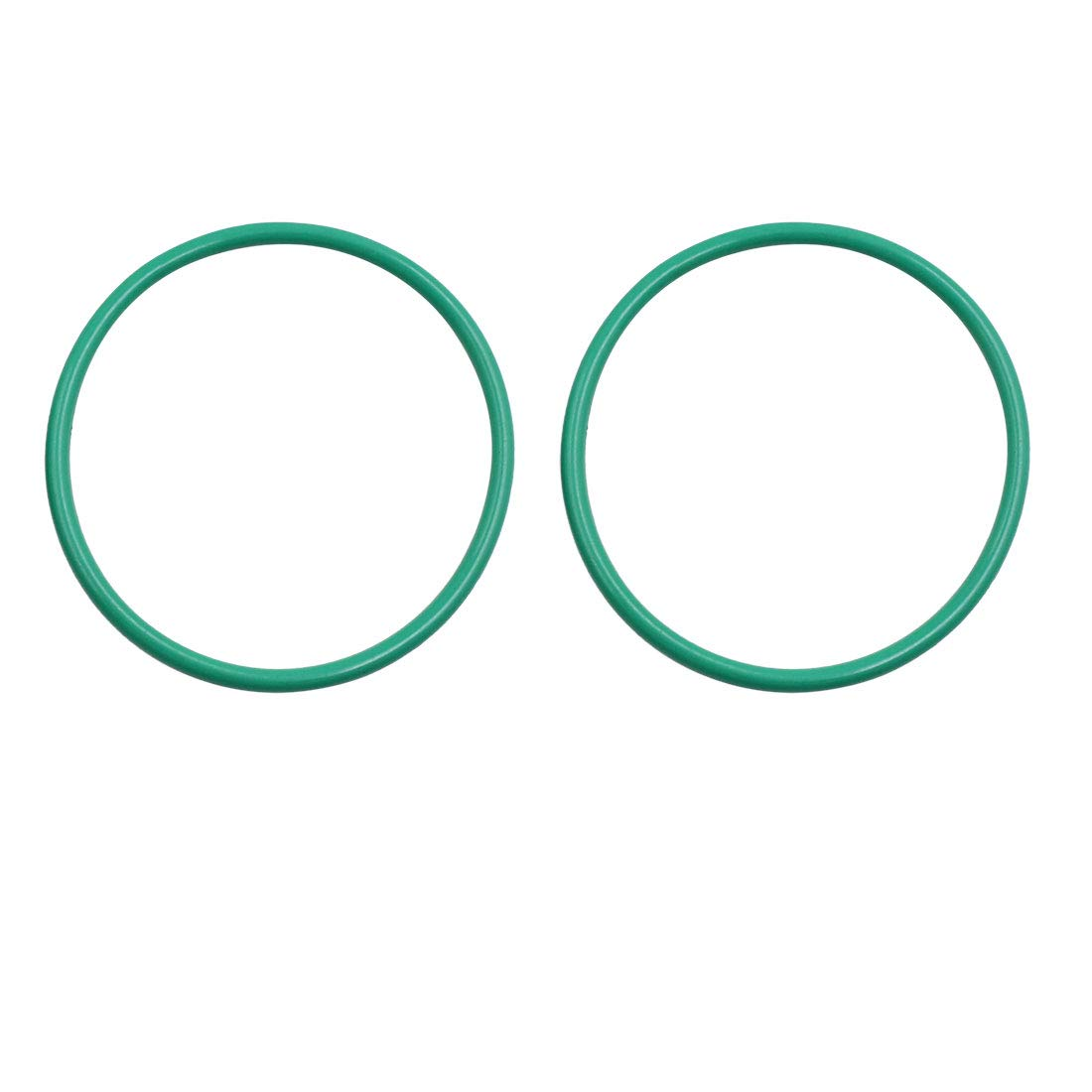 X AUTOHAUX 5pcs Green Rubber O-Ring Seal Gasket Washer for Car 67mm x 3.5mm