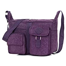 Hynbase Women's Classic Canvas Cross Boby Bag Wild Shoulder Bag
