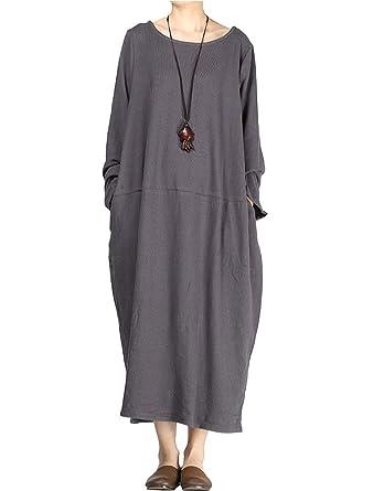 Vogstyle Donna Nuovo Abito Con Collo Fondo  Amazon.it  Abbigliamento a0eff547b3f