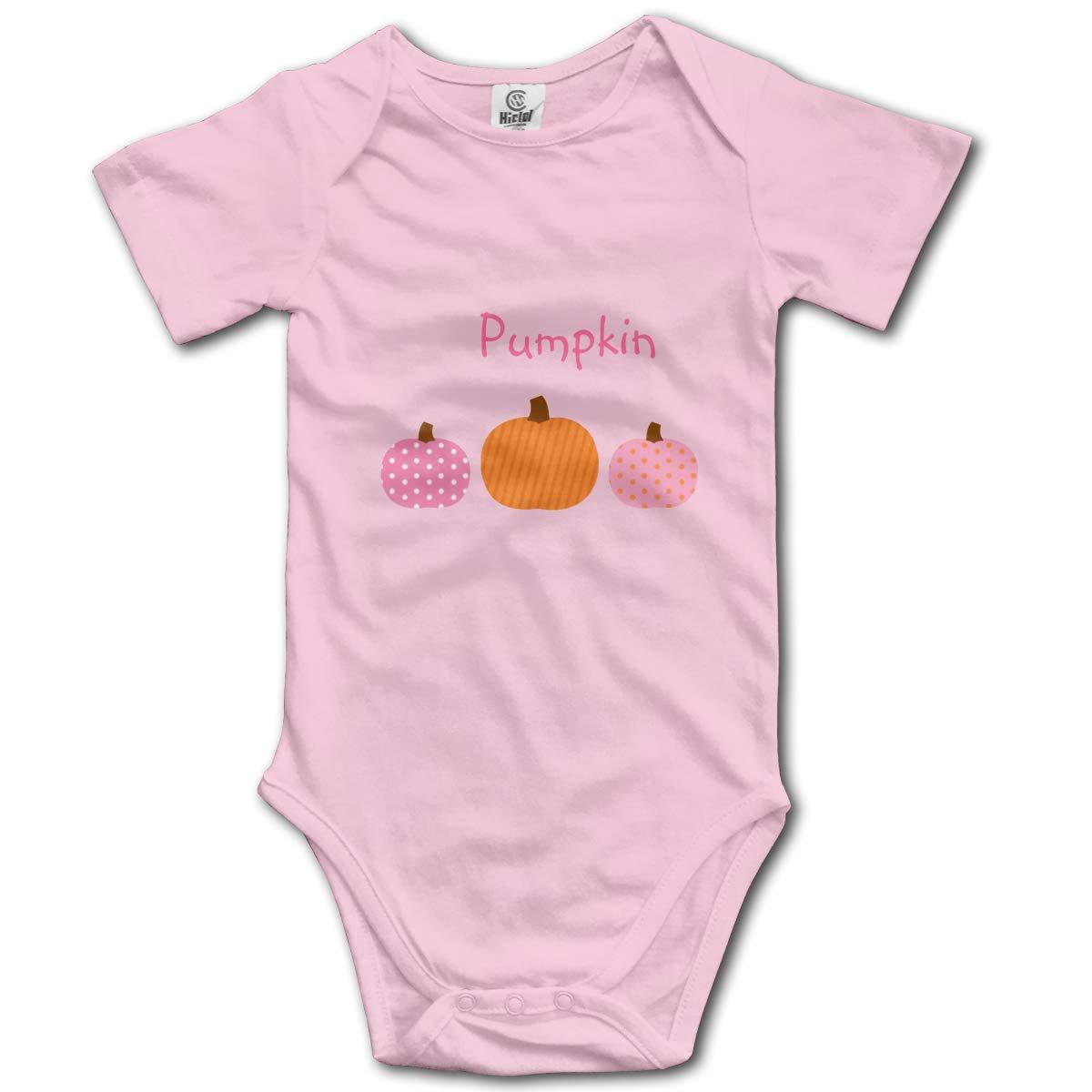 Nanagang Cute Pink Pumpkin Baby Short Sleeves Babyclothess Cute Pink