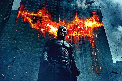 Batman Christian Bale Fire Black Mask Superhero The Dark Knight Rises Movie Film Poster Fabric Silk Poster Print (Batman Black Knight Rises)