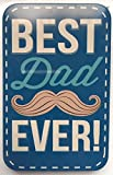 """""""Best Dad Ever!"""" Mustache Gift Card Box / Holder / Tin - Father's Day, Birthday, Christmas"""