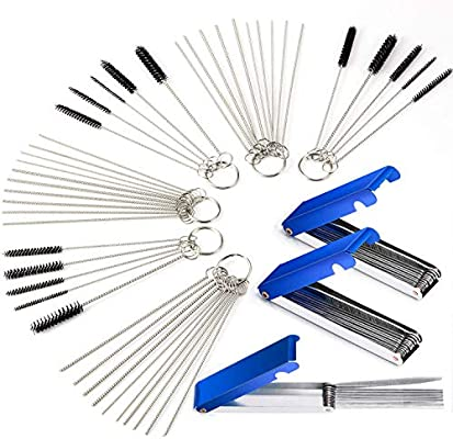 Motorcycle Carburetor Carbon Dirt Deposit Remove Cleaning Tip Tool Needles Kit