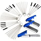 Gzingen Carburetor Carbon Dirt Jet Remove Cleaner 39 Cleaning Wires Torch Tip Cleaner Tool +30 Cleaning Needles +15 Nylon Brush Tool Kit for Motorcycle ATV Moped Welder Carb Chainsaw Spray Torch Tips