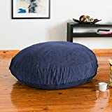Jaxx Cocoon 4 Foot Bean Bag Crash Pad for Teens, Premium Chenille Cover, Navy