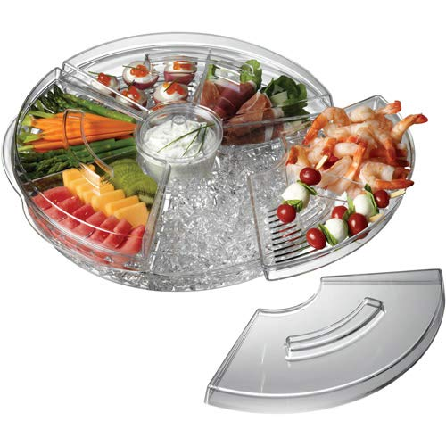 - OKSLO Appetizers-on-ice revolving tray
