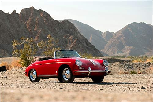 Innerwallz Porsche Retro 1959-62 356B 1600 Roadster by Drauz Red Metallic Cabriolet Cars Wall Art, Pop Art, Poster, Art Prints | Rare Posters ()