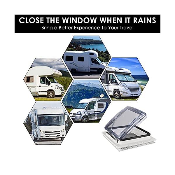 51bS8NYa0MS S SMAUTOP Dachfenster Vent ,RV Dachventilator, 12V Kühler Abluftventilator, Turbo Vent Kurbeldachhaube Polar Control mit…